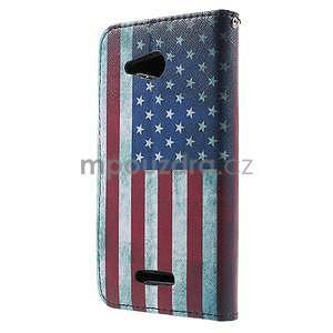 Peňaženkové puzdro pre Sony Xperia E4g - USA vlajka - 4