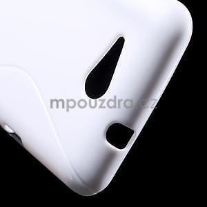 S-line gélový obal pre Sony Xperia E4g - biely - 4