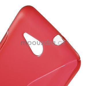 S-line gélový obal pre Sony Xperia E4g -  červený - 4