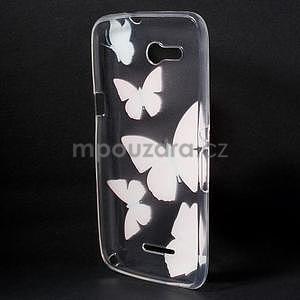 Gélový obal pre Sony Xperia E4g -  motýľikové - 4