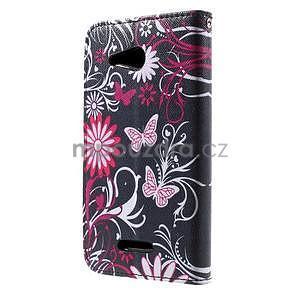 Peňaženkové puzdro pre Sony Xperia E4g - motýľikovia - 4