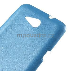 Gélový obal na Sony Xperia E4g s koženkovým chrbtom - modrý - 4