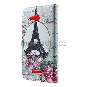 Peňaženkové puzdro pre Sony Xperia E4g - Eiffelova veža - 4