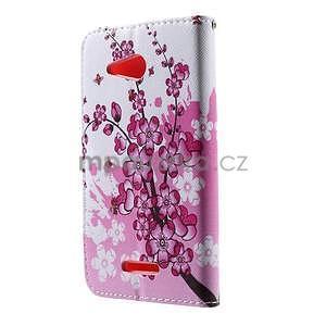 Peňaženkové puzdro na Sony Xperia E4g - kvitnúca vetvička - 4