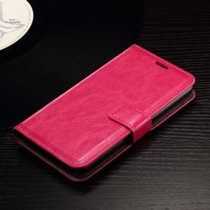 Horse PU kožené puzdro pre mobil Sony Xperia E4g - rose - 4