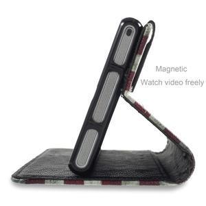 Standy Peňaženkové puzdro Sony Xperia M2 Aqua - US vlajka - 4