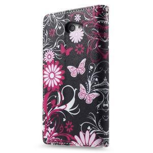 Standy peněženkové pouzdro Sony Xperia M2 Aqua - kouzelní motýlci - 4