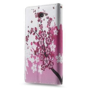 Standy Peňaženkové puzdro Sony Xperia M2 Aqua - kvitnúce vetvička - 4