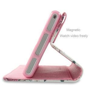 Standy peněženkové pouzdro Sony Xperia M2 Aqua - květiny - 4