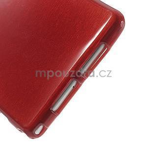 Broušený gelový obal na Sony Xperia Z2 - červený - 4