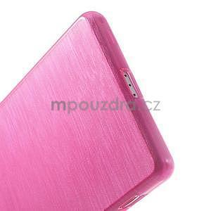 Brúsený gélový obal pre Sony Xperia Z2 - rose - 4