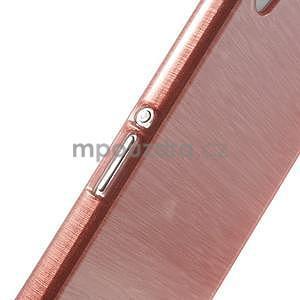 Brúsený gélový obal pre Sony Xperia Z2 - ružový - 4