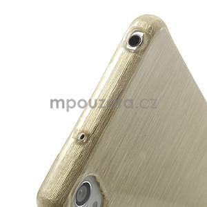 Brúsený gélový obal pre Sony Xperia Z2 - zlatý - 4