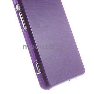 Brúsený gélový obal pre Sony Xperia Z2 - fialový - 4