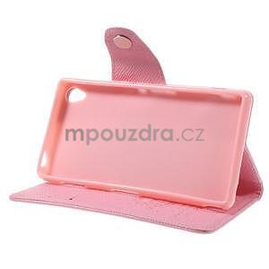 Ružové Peňaženkové puzdro pre Sony Xperia Z3 - 4