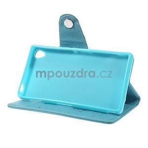 Tyrkysové Peňaženkové puzdro pre Sony Xperia Z3 - 4