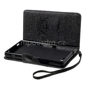 Černé peněženkové pouzdro na Sony Xperia Z3 Compact - 4