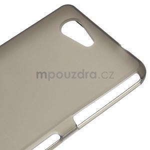 sivý matný gélový obal pre Sony Xperia Z3 Compact - 4