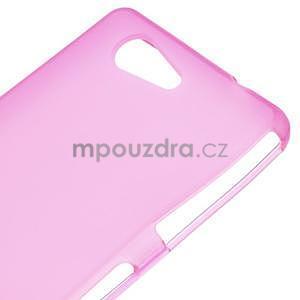 Rose matný gélový obal pre Sony Xperia Z3 Compact - 4