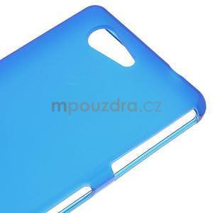 Modrý matný gelový obal na Sony Xperia Z3 Compact - 4