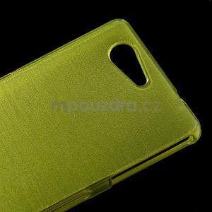 Brúsený obal pre Sony Xperia Z3 Compact D5803 - zelený - 4