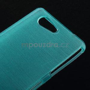 Brúsený obal pre Sony Xperia Z3 Compact D5803 - tyrkysový - 4