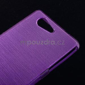 Brúsený obal pre Sony Xperia Z3 Compact D5803 - fialový - 4