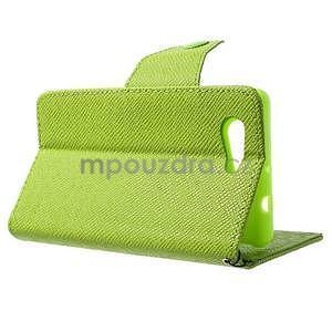 Zelené peněženkové pouzdro na Sony Xperia Z3 Compact - 4