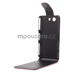 Růžové flipové pouzdro na Sony Xperia Z3 Compact - 4