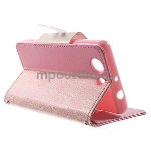 Zapínacie puzdro s mašličkou pre Sony Xperia Z3 Compact - ružové - 4