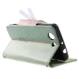 Zapínacie puzdro s mašličkou pre Sony Xperia Z3 Compact - azurové - 4