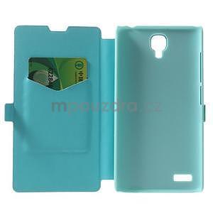 Kožené puzdro na Xiaomi Hongmi Note - světle modré - 4
