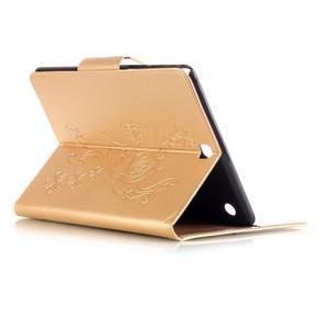 Butterfly PU kožené puzdro pre Samsung Galaxy Tab A 9.7 - zlaté - 4