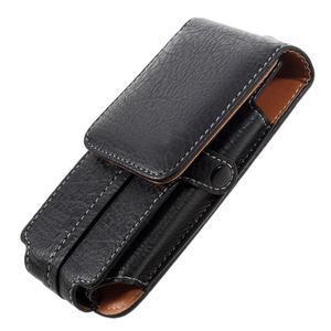 Cestovní PU kožené peňaženkové puzdro do rozmerov 150 x 73 x 15 mm - čierne - 4