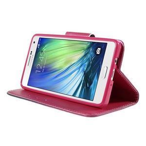 Emotive PU kožené puzdro pre mobil Samsung Galaxy A5 - srdca - 4