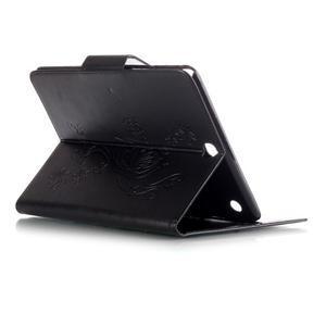 Butterfly PU kožené pouzdro na Samsung Galaxy Tab A 9.7 - černé - 4