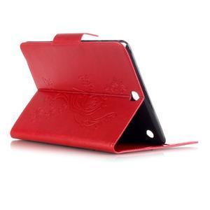 Butterfly PU kožené puzdro pre Samsung Galaxy Tab A 9.7 - červené - 4