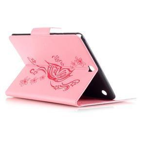 Butterfly PU kožené puzdro pre Samsung Galaxy Tab A 9.7 - ružové - 4
