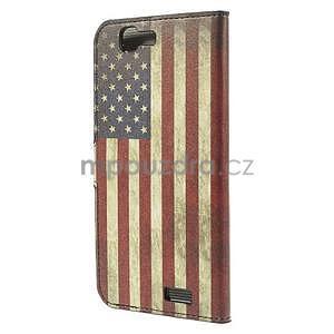 Peňaženkové puzdro Huawei Ascend G7 - vlajka USA - 4