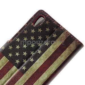 Peňaženkové puzdro na Huawei Ascend P6 - USA vlajka - 4