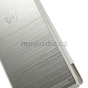 Kožené puzdro s okýnky na Huawei P6 - biele - 4