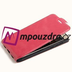 Flipové PU kožené puzdro na Huawei Y5 II - rose - 4