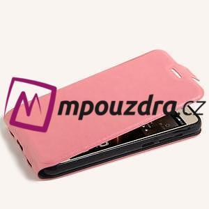 Flipové PU kožené puzdro na Huawei Y5 II - růžové - 4