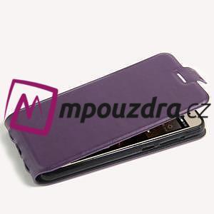 Flipové PU kožené puzdro na Huawei Y5 II - fialové - 4