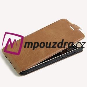 Flipové PU kožené puzdro na Huawei Y5 II - hnědé - 4