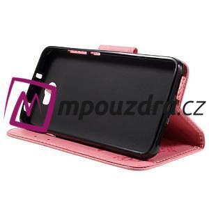 Butterfly PU kožené puzdro na mobil Huawei Y5 II - růžové - 4