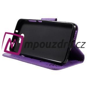 Butterfly PU kožené puzdro na mobil Huawei Y5 II - fialové - 4