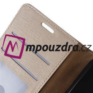 Clothy peněženkové puzdro na Huawei Y5 II - zlaté - 4