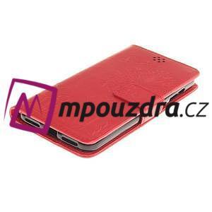 Dandelion PU kožené puzdro na Huawei Y5 II - červené - 4