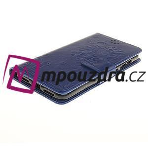 Dandelion PU kožené puzdro na Huawei Y5 II - modré - 4